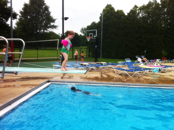 Linds on Diving Board